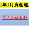 【2021年1月投資運用額】700万円を突破!!・・月末にかけて株価は急落!!