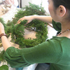 北欧風フレッシュグリーンのクリスマスリース2010