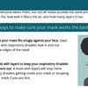 変異ウイルス対応のマスクのつけ方