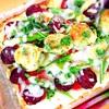 芽キャベツとサラミのカリフラワーピザ