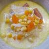 コーン缶とソーセージのスープ 02 水不使用