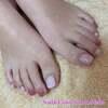 足のお爪も補強できます♡シンプルフェミニンなピンク&プラムのワンカラーネイル☆フットジェル