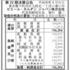 ピエール・カルダン・ジャパン株式会社 第22期決算公告