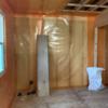 壁に防湿気密シートが貼られました