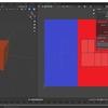 Blender2.8でミラーモディファイアを設定したまま左右別々のUV展開を行う