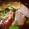 だし茶漬け・肉うどん えん@エトモ大井町店(漬け鮪の漁師風だし茶漬け)【デリバリー】