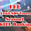 FFL APEX LEGENDS Tournaments Season1 出場選手キル数ランキング一覧