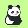 パンダの表情は哲学的な・・なイラスト