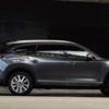 CX-8商品改良モデルの新しいボディカラーの名称は「プラチナクォーツメタリック」の模様。