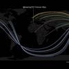 Twitterのフォロワーマップ