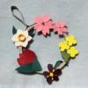 小さな春の花リース♪【紙バンド・エコクラフト手芸】