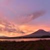 河口湖 大石公園からの赤富士