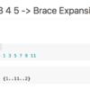 bash echo {1..11..2} で「1から11までの数を2とびで表示」する(ブレース展開)