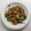かんたん美味しい 38(豚肉と野菜の黒酢炒め)