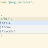 Angular2 公式の Visual Studio Code エクステンション(Experimental Release)を使ってみた