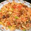 【1食100円】紅生姜と牛モツ焼肉のもち麦チャーハンの作り方