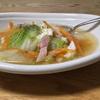 今朝は温かい白菜スープ