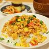 トマトとコーンのチリライスで、ラクチンお夕飯の日