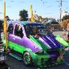 竹ヤリマフラーの軽自動車