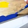 材料はまな板⁉100均グッズで表札をDIY♪ ②