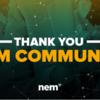 NEM財団プロポーザルが承認されました!2019年資金調達提案書の投票結果