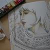 完成】59『うた遊み・ゆう』のページが塗りあがりました☆池永 康晟の美人画ぬりえより