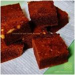 クルミごろりん。ココナッツオイルのチョコレートでブラウニー