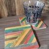 ヘリンボーン風のコースターを木製スティックで作る100均DIY!