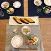 ごはん、鮭の西京焼き、レンコンの塩きんぴら、サラダ