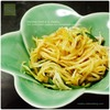 沖縄料理の宴3/5:変わりパパイヤイリチー |千切り青パパイヤの炒め物
