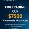 FixiMarketsで賞金付きの7月デモトレードコンテストエントリー開始。