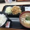 禁酒日のディナー(生姜焼き定食)