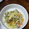 豆苗入り野菜炒め