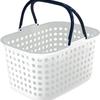 一人暮らしの洗濯物の移動におすすめ 平和工業 ランドリー バスケット ドット 浅型