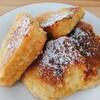 今日の朝食 パンケーキのフレンチトースト