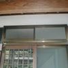 建具修理2(木製ランマ嵌め殺しガラスをアルミ引き違いに変更)