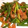 韓国常備菜 にんにくの芽と干しえび炒め