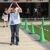 中大横浜紅央祭初日💁爪楊枝アートの中大マーク😘感激🌟