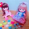 【作り方紹介】小さい子でも付けられる、メルちゃんのヘアアクセサリー、ぺったんヘアアクセ!!