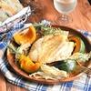 レンジ&トースタで♪ガーリックチキンと秋野菜のグリル*