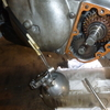 S301AT ミッション軸承盤合わせ面からオイル漏れ