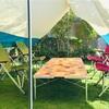 【自宅の庭にタープを設置すればプールやバーベキューの日差し除けや目隠しに最適!】