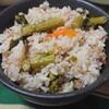 菜の花とツナの炊き込みご飯