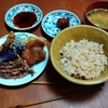 幸運な病のレシピ( 2345 )昼:唐揚げ、春巻き(マッシュポテト)、イカゲソ揚げ、ノドクロ揚げ