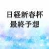 【日経新春杯2020】最終予想