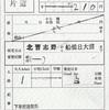 本日の使用切符:東葉高速鉄道 北習志野駅発行 北習志野→船橋日大前 出札補充券(乗車券)