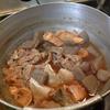 幸運な病のレシピ( 793 )夜:鮭カマ煮付け、汁、レバ・ハツ網焼き、「あまとう」焼き浸し、ホッケみりん干し