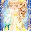 ゲーム「恋してキャバ嬢」のアバター♪クリーム色の上品ドレス編