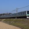 新年らしい列車を撮る