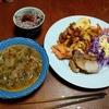 幸運な病のレシピ( 2219 )夜 :肩ブロック照り焼き、サラダ、汁仕立直し、マユのご飯